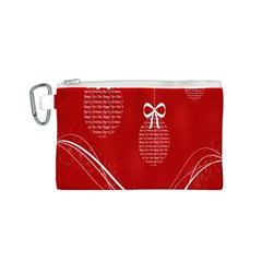 Simple Merry Christmas Canvas Cosmetic Bag (s)