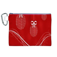 Simple Merry Christmas Canvas Cosmetic Bag (XL)