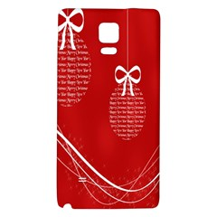 Simple Merry Christmas Galaxy Note 4 Back Case