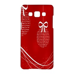 Simple Merry Christmas Samsung Galaxy A5 Hardshell Case