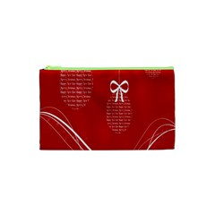 Simple Merry Christmas Cosmetic Bag (XS)
