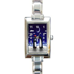 Small Gift For Xmas Christmas Rectangle Italian Charm Watch