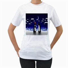 Small Gift For Xmas Christmas Women s T-Shirt (White) (Two Sided)