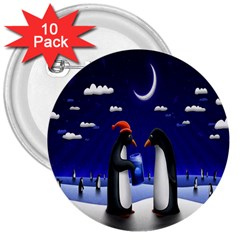 Small Gift For Xmas Christmas 3  Buttons (10 pack)