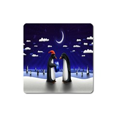 Small Gift For Xmas Christmas Square Magnet