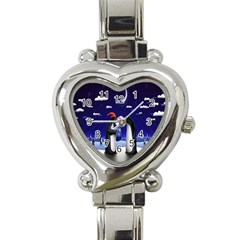 Small Gift For Xmas Christmas Heart Italian Charm Watch