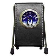 Small Gift For Xmas Christmas Pen Holder Desk Clocks