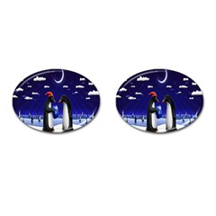 Small Gift For Xmas Christmas Cufflinks (oval)