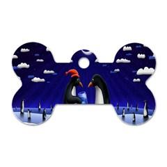 Small Gift For Xmas Christmas Dog Tag Bone (two Sides)