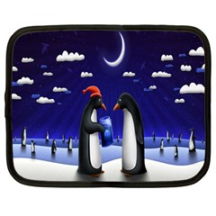 Small Gift For Xmas Christmas Netbook Case (large)