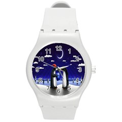 Small Gift For Xmas Christmas Round Plastic Sport Watch (m)