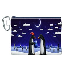 Small Gift For Xmas Christmas Canvas Cosmetic Bag (l)