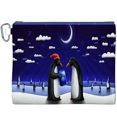Small Gift For Xmas Christmas Canvas Cosmetic Bag (XXXL)