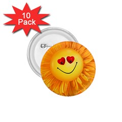 Smiley Joy Heart Love Smile 1.75  Buttons (10 pack)