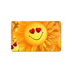 Smiley Joy Heart Love Smile Magnet (Name Card)