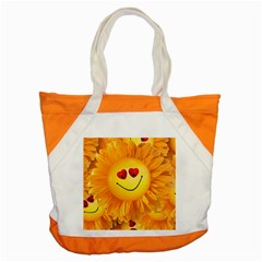 Smiley Joy Heart Love Smile Accent Tote Bag