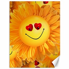 Smiley Joy Heart Love Smile Canvas 36  x 48