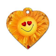 Smiley Joy Heart Love Smile Dog Tag Heart (One Side)