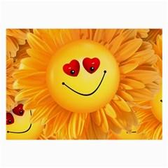 Smiley Joy Heart Love Smile Large Glasses Cloth