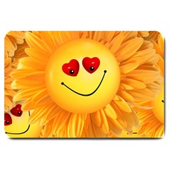 Smiley Joy Heart Love Smile Large Doormat