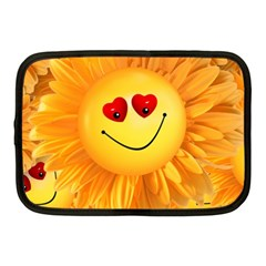 Smiley Joy Heart Love Smile Netbook Case (medium)
