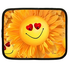 Smiley Joy Heart Love Smile Netbook Case (XXL)
