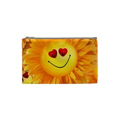 Smiley Joy Heart Love Smile Cosmetic Bag (Small)