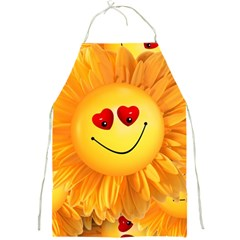 Smiley Joy Heart Love Smile Full Print Aprons