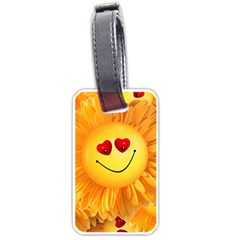 Smiley Joy Heart Love Smile Luggage Tags (One Side)