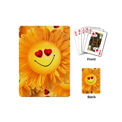 Smiley Joy Heart Love Smile Playing Cards (Mini)