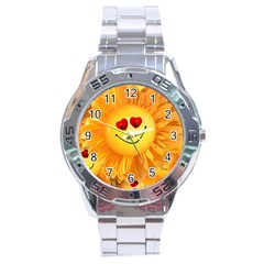 Smiley Joy Heart Love Smile Stainless Steel Analogue Watch