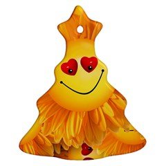 Smiley Joy Heart Love Smile Christmas Tree Ornament (Two Sides)