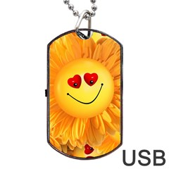 Smiley Joy Heart Love Smile Dog Tag Usb Flash (two Sides)