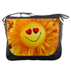 Smiley Joy Heart Love Smile Messenger Bags