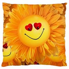 Smiley Joy Heart Love Smile Large Cushion Case (One Side)