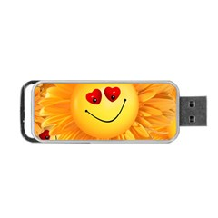 Smiley Joy Heart Love Smile Portable USB Flash (One Side)