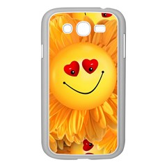 Smiley Joy Heart Love Smile Samsung Galaxy Grand DUOS I9082 Case (White)