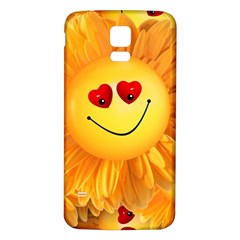 Smiley Joy Heart Love Smile Samsung Galaxy S5 Back Case (white)
