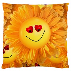 Smiley Joy Heart Love Smile Standard Flano Cushion Case (two Sides)