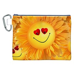Smiley Joy Heart Love Smile Canvas Cosmetic Bag (xxl)