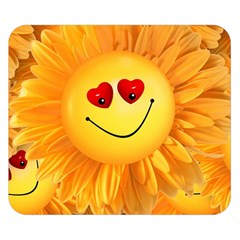 Smiley Joy Heart Love Smile Double Sided Flano Blanket (small)
