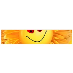 Smiley Joy Heart Love Smile Flano Scarf (small)