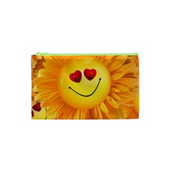 Smiley Joy Heart Love Smile Cosmetic Bag (XS)