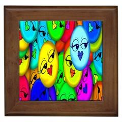 Smiley Girl Lesbian Community Framed Tiles