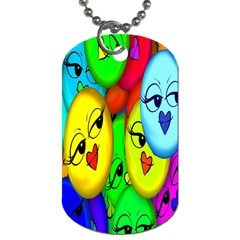 Smiley Girl Lesbian Community Dog Tag (one Side)