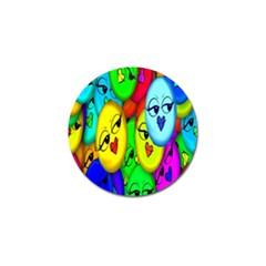 Smiley Girl Lesbian Community Golf Ball Marker (10 pack)
