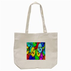 Smiley Girl Lesbian Community Tote Bag (cream)