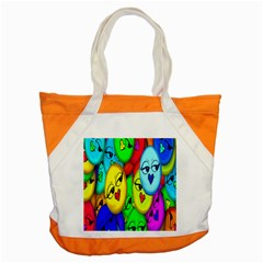 Smiley Girl Lesbian Community Accent Tote Bag