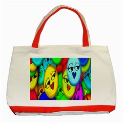 Smiley Girl Lesbian Community Classic Tote Bag (red)
