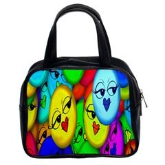 Smiley Girl Lesbian Community Classic Handbags (2 Sides)